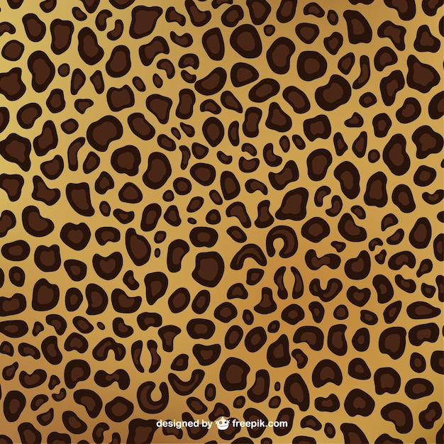 Luipaard print patroon Gratis Vector