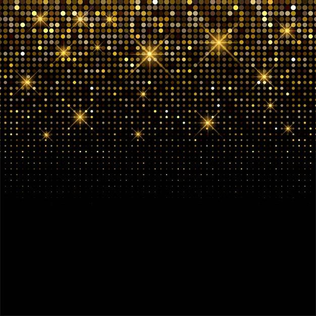 Luxe achtergrond glanzende gouden glitters achtergrond Gratis Vector