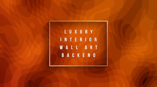 Luxe binnenmuur kunst backend Premium Vector