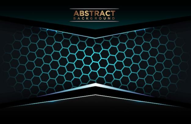 Luxe blauwe veelhoekige achtergrond Premium Vector