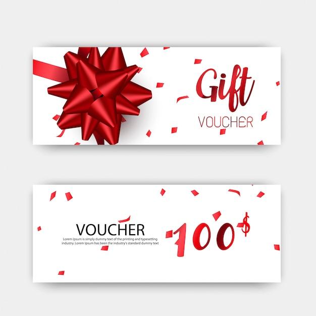 Luxe cadeaubonnen ingesteld Premium Vector