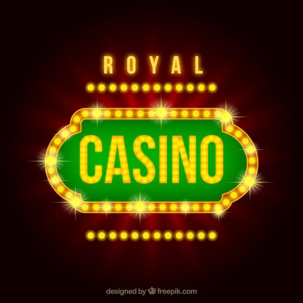 Luxe casino teken Gratis Vector
