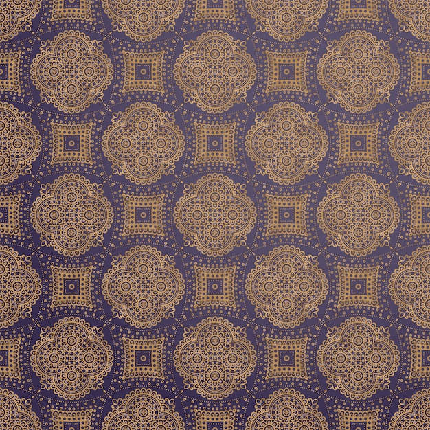 Luxe decoratief mandala ontwerp Gratis Vector