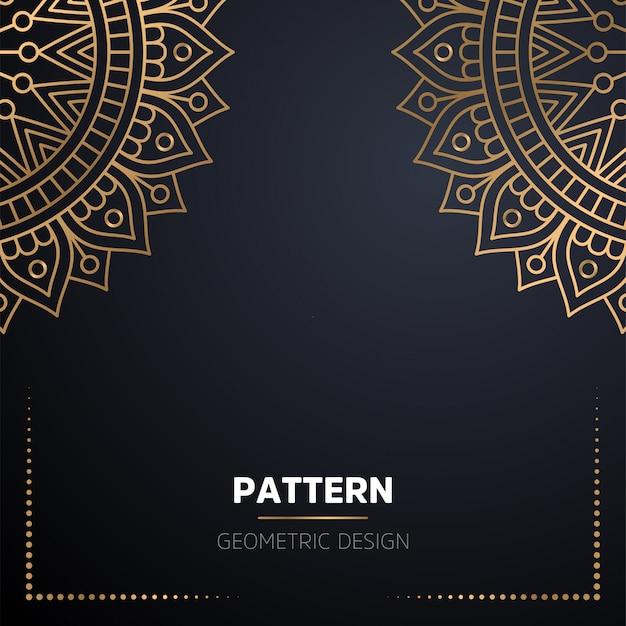 Luxe decoratieve mandala ontwerp achtergrond in gouden kleur Gratis Vector