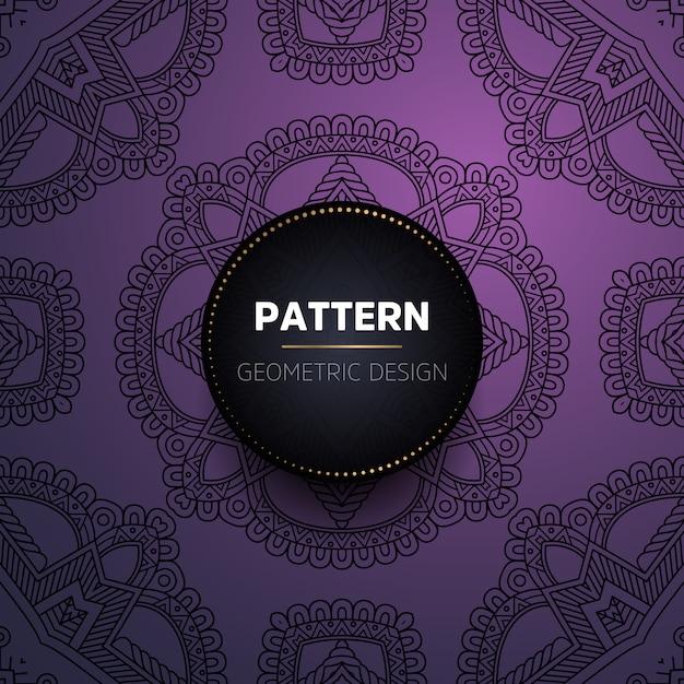 Luxe decoratieve mandala ontwerp achtergrond Premium Vector