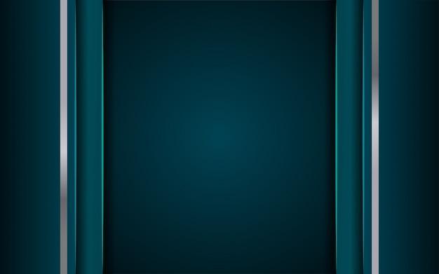 Luxe donkerblauwe achtergrond Premium Vector