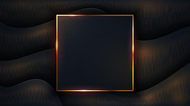 Luxe donkere achtergrond. Premium Vector