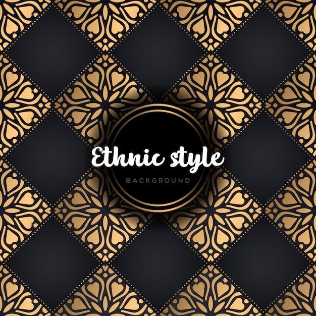 Luxe etnisch ontwerp naadloos patroon Gratis Vector