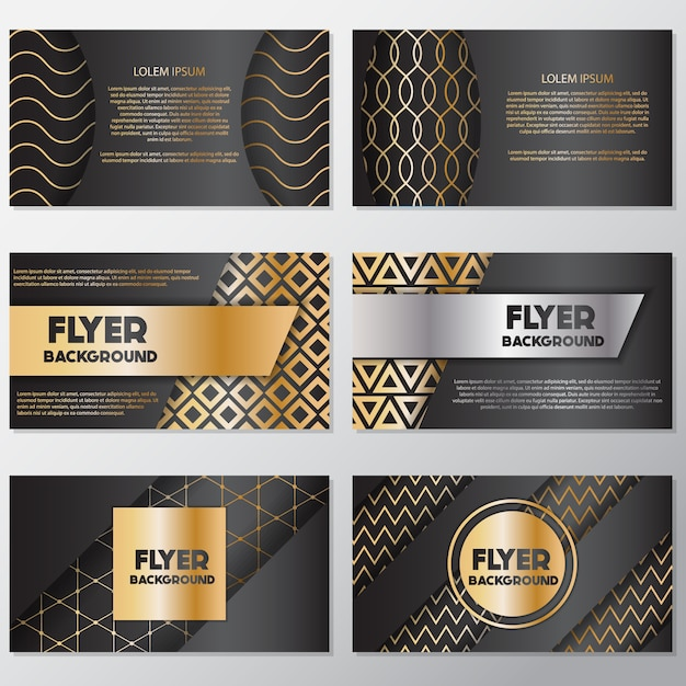Luxe flyer ontwerp Gratis Vector