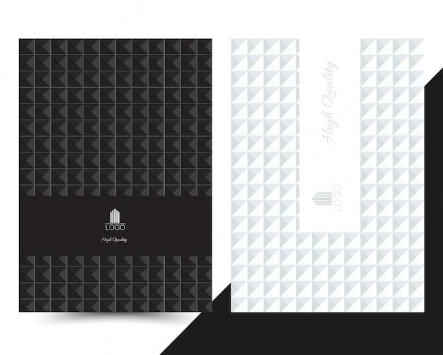 Luxe geometrisch omslagmenu Premium Vector