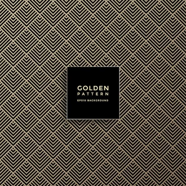 Luxe gouden geometrisch patroon, abstracte patroonachtergrond Premium Vector