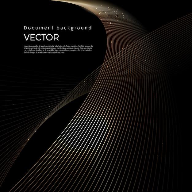 Luxe gouden lijnen, abstracte lijnachtergrond Premium Vector