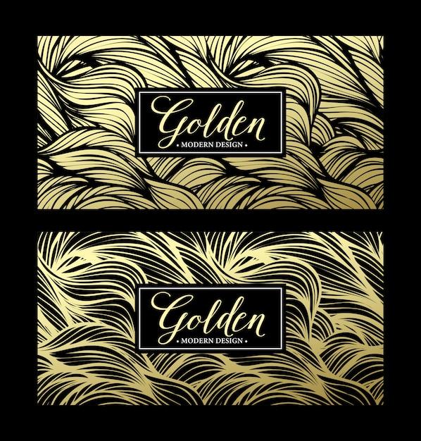 Luxe gouden moderne kaart Premium Vector