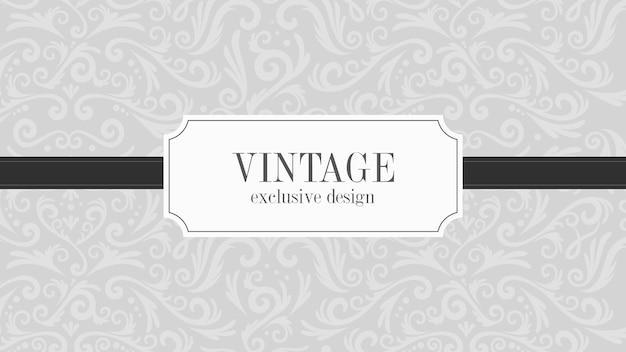 Luxe grijze vintage decoratieve achtergrond Gratis Vector