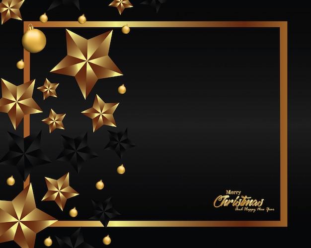 Luxe kerstmis achtergrondontwerp voor banner en groetkaart Premium Vector