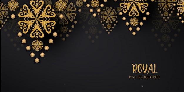 Luxe koninklijke gouden achtergronden Premium Vector