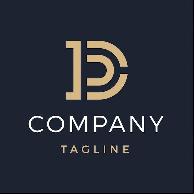 Luxe letter d monogram logo Premium Vector