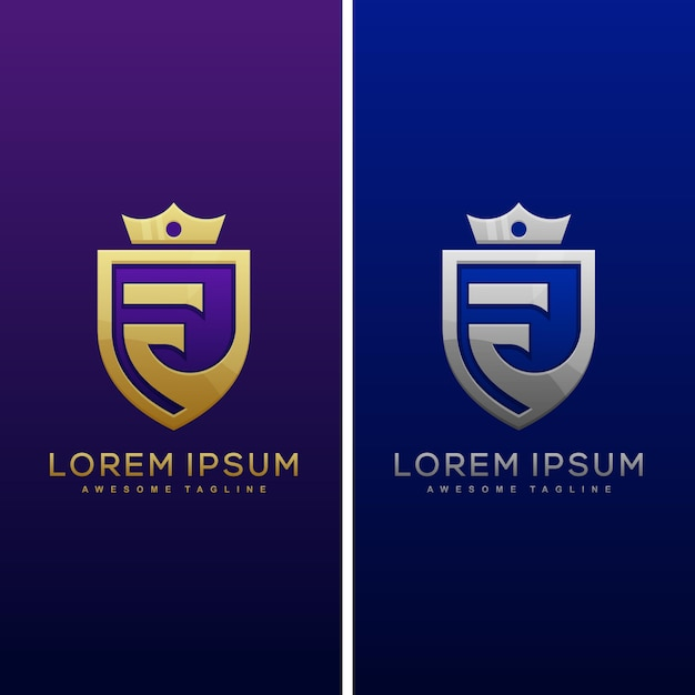 Luxe letter f concept illustratie Premium Vector