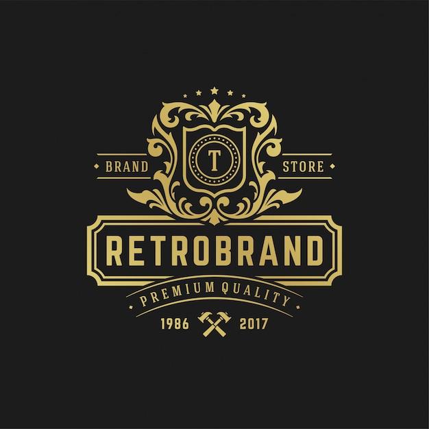 Luxe letter t logo ontwerpsjabloon vectorillustratie. Premium Vector