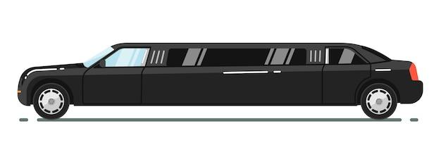 Luxe limousine geïsoleerd op een witte achtergrond Premium Vector