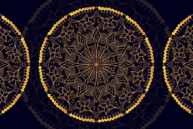 Luxe mandala achtergrond Gratis Vector
