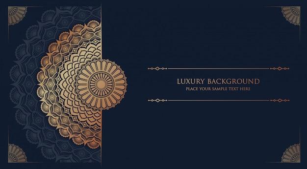 Luxe mandala islamitische achtergrond Premium Vector