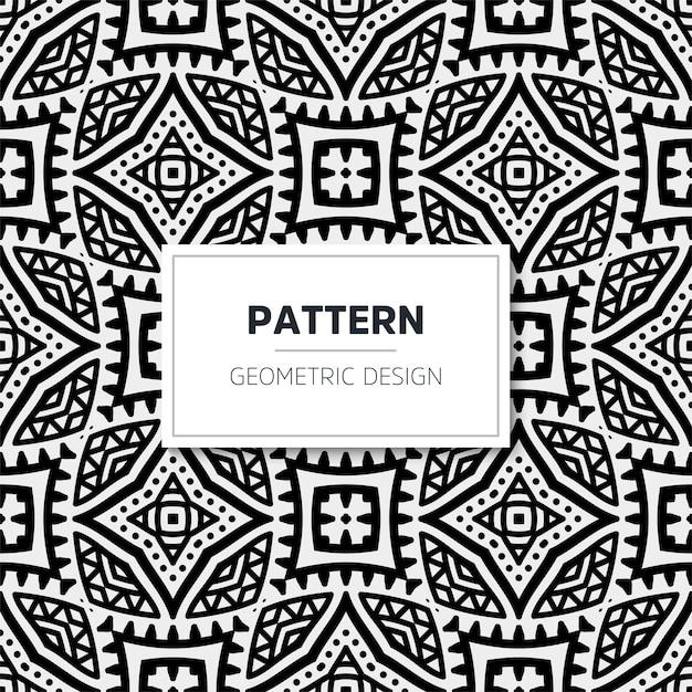 Luxe mandala patroon. geometrisch ontwerp Premium Vector