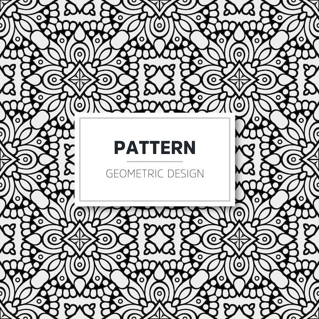 Luxe mandala patroon. geometrisch ontwerp Gratis Vector