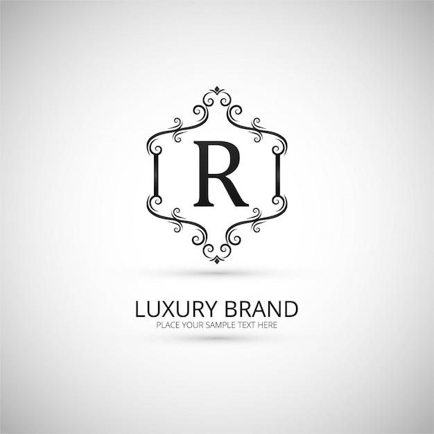 Luxe merk logo achtergrond Gratis Vector