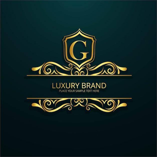 Luxe merk logo Gratis Vector