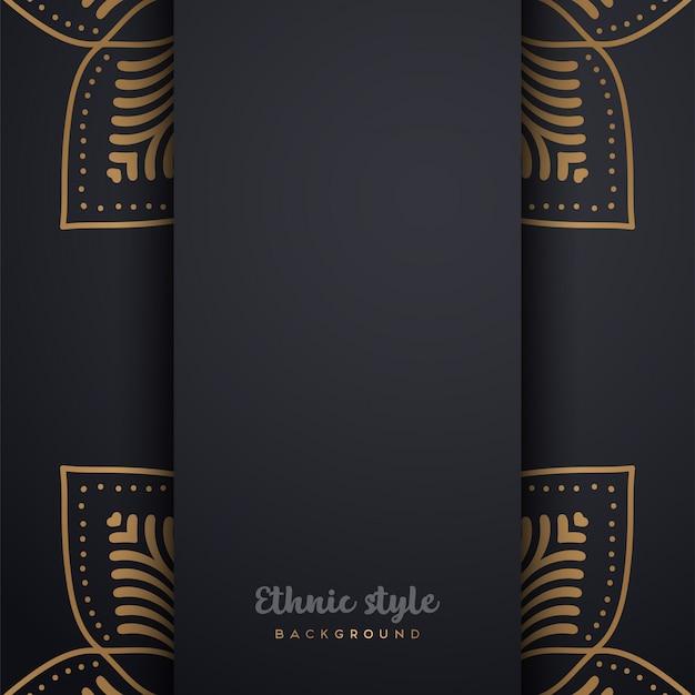Luxe ontwerp in arabische stijl Gratis Vector