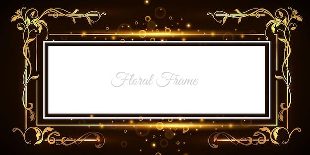 Luxe ornament frame achtergrond Gratis Vector