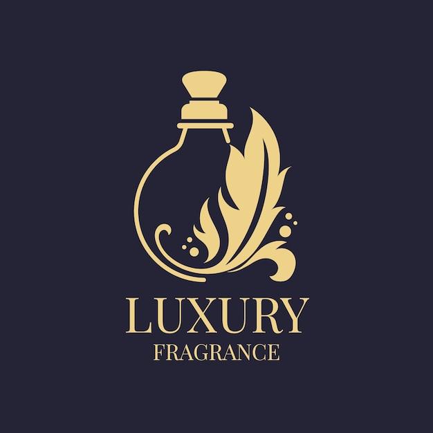 Luxe parfum logo sjabloonontwerp Gratis Vector