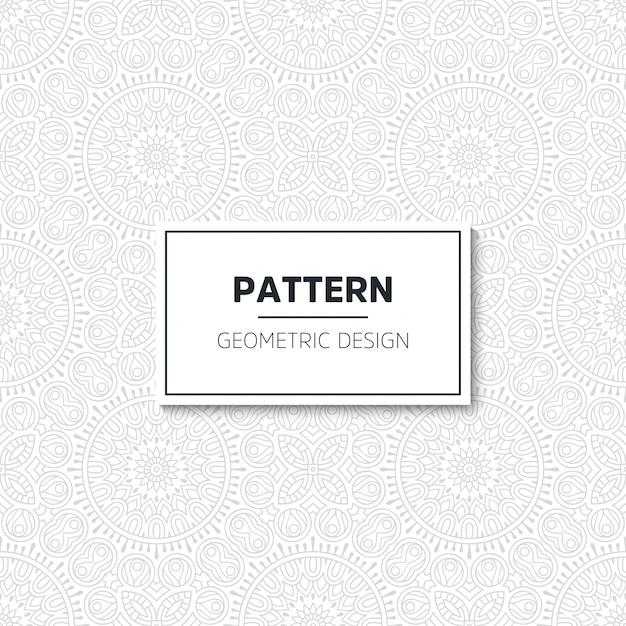 Luxe patroon mandala ontwerp Gratis Vector