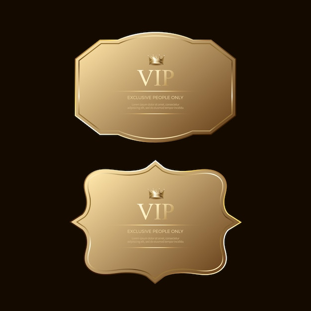 Luxe premium gouden badges en labels Premium Vector
