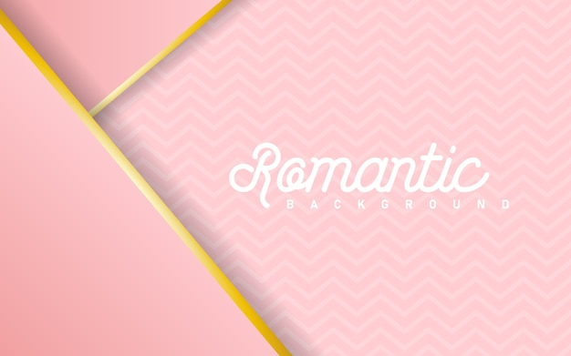 Luxe roze pastel abstracte achtergrond combineren met gouden lijnen element Premium Vector