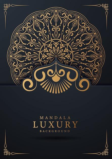 Luxe sier mandala achtergrondontwerp met gouden arabesque en florale hoek frame arabische islamitische oost-stijl Premium Vector
