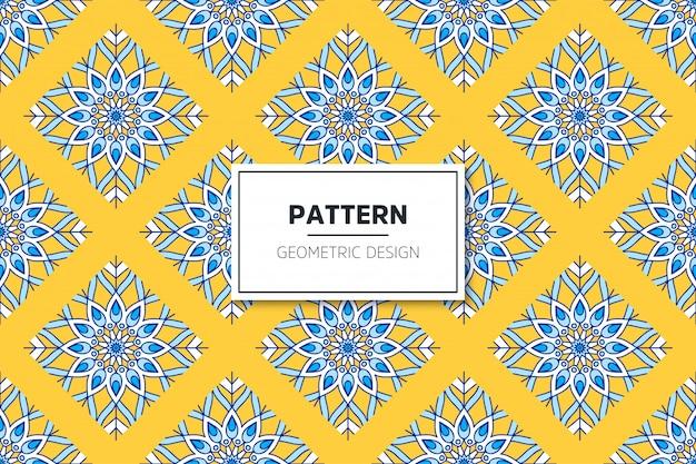 Luxe sier mandala naadloze patroon in gouden kleur vector Gratis Vector