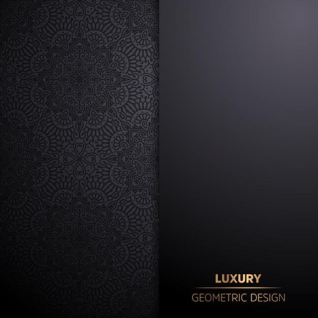 Luxe sier mandala ontwerp achtergrond in gouden kleur Gratis Vector