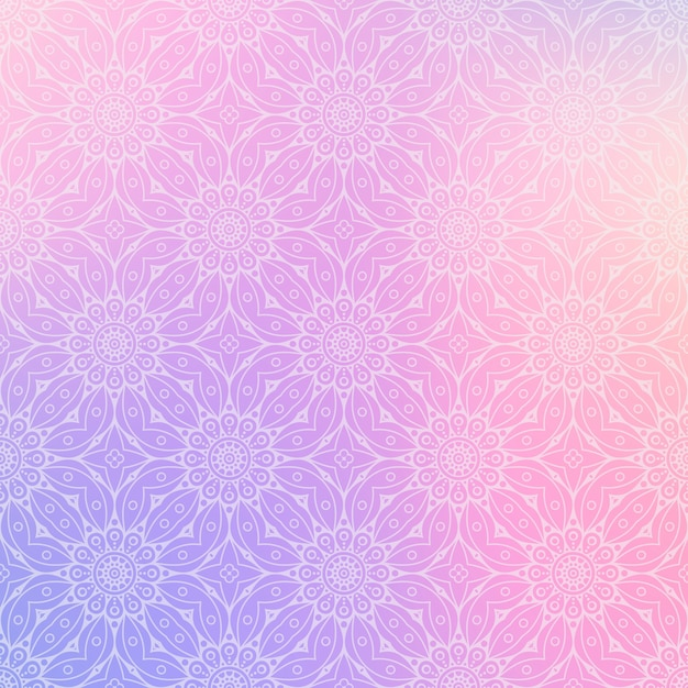 Luxe sier mandala ontwerp achtergrond Premium Vector