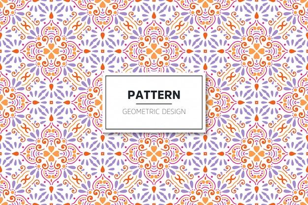 Luxe sier mandala ontwerp naadloze patroon Gratis Vector