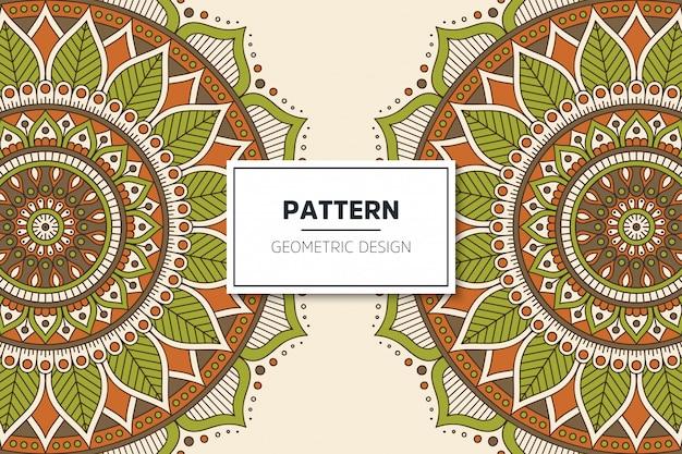 Luxe sier mandala patroon ontwerp Gratis Vector