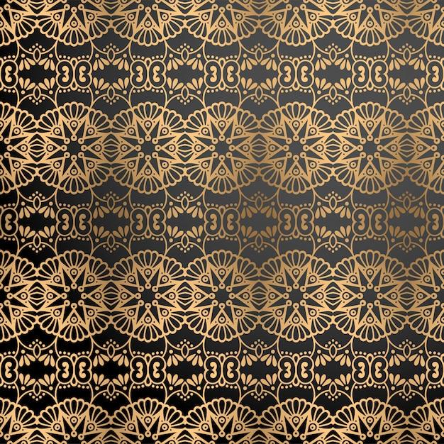 Luxe sierachtergrond in gouden kleur Gratis Vector