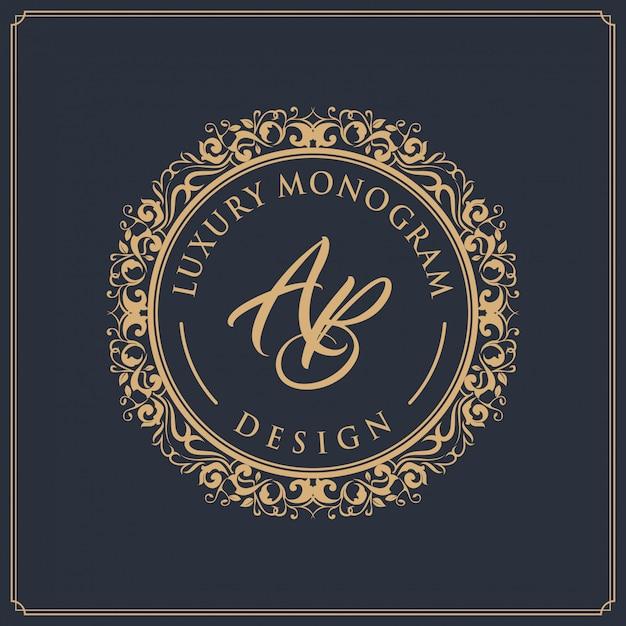 Luxe sjabloonontwerp voor bruiloft en decoratie Premium Vector
