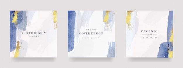 Luxe sociaal verhaal en postcover ontwerp Premium Vector