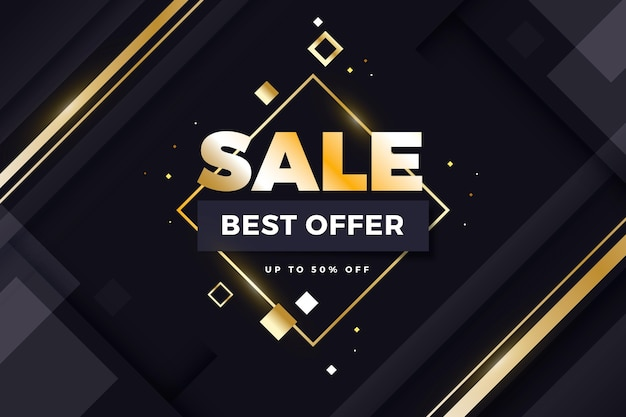Luxe verkoop achtergrond beste aanbieding Gratis Vector