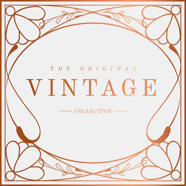 Luxe vintage art nouveau badge vector Gratis Vector