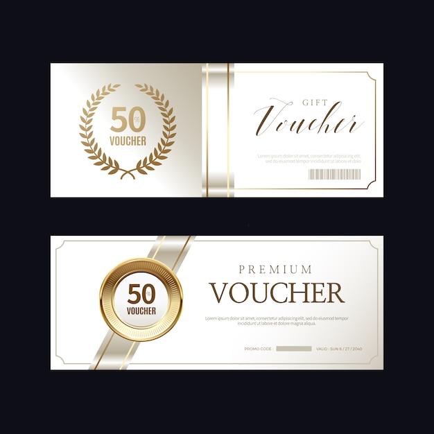 Luxe vip-uitnodigingen en couponachtergronden Premium Vector