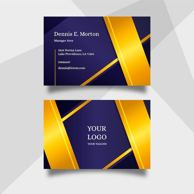 Luxe visitekaartje sjabloon Gratis Vector