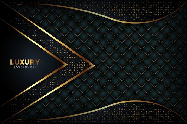 Luxe zwarte achtergrond Premium Vector